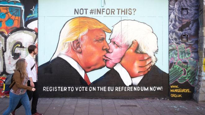Boris Trump Kiss - BBC News